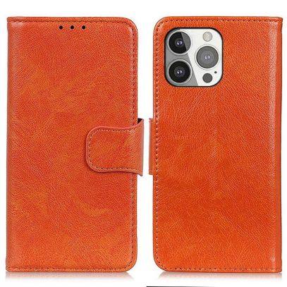 Apple iPhone 13 Pro Nahkakotelo Oranssi