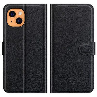 Apple iPhone 13 Suojakotelo PU-Nahka Musta
