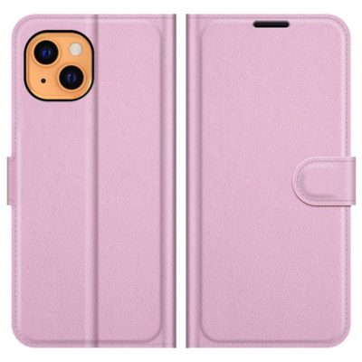Apple iPhone 13 Suojakotelo PU-Nahka Vaaleanpunainen