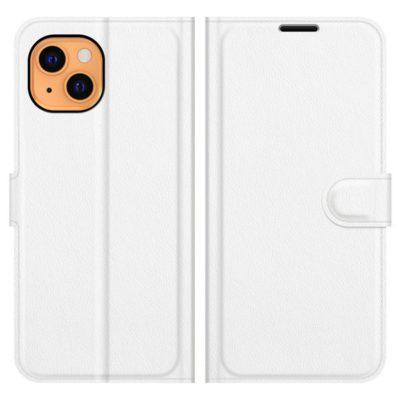 Apple iPhone 13 Suojakotelo PU-Nahka Valkoinen