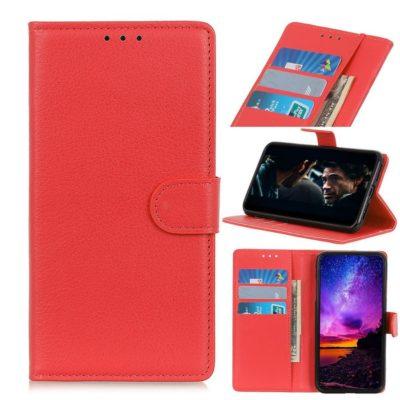 Xiaomi Redmi 9A Lompakko Suojakotelo Punainen