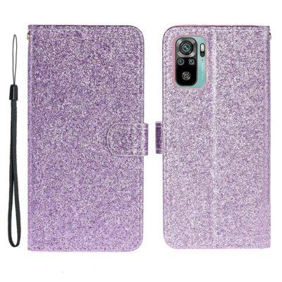 Xiaomi Redmi Note 10S Kotelo Glitter Violetti