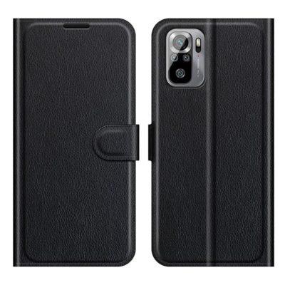 Xiaomi Redmi Note 10S Kotelo PU-Nahka Musta