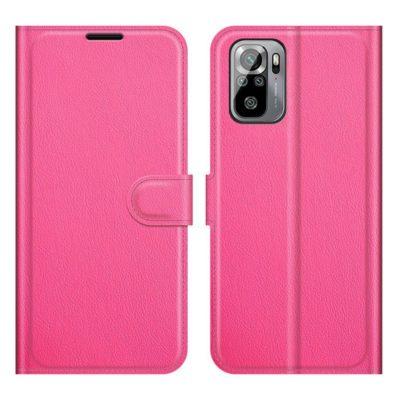 Xiaomi Redmi Note 10S Kotelo PU-Nahka Pinkki