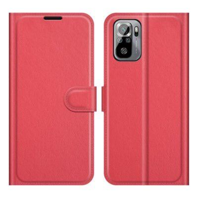 Xiaomi Redmi Note 10S Kotelo PU-Nahka Punainen