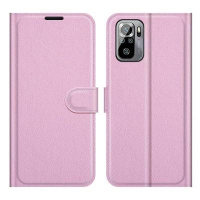 Xiaomi Redmi Note 10S Kotelo PU-Nahka Vaaleanpunainen