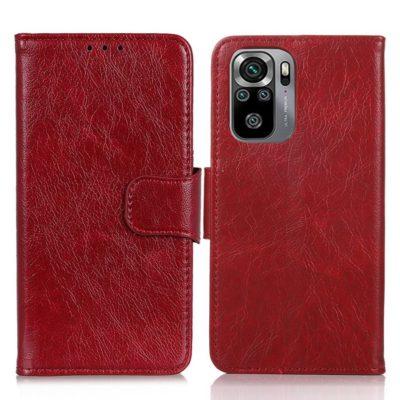 Xiaomi Redmi Note 10S Kotelo Punainen Nahka