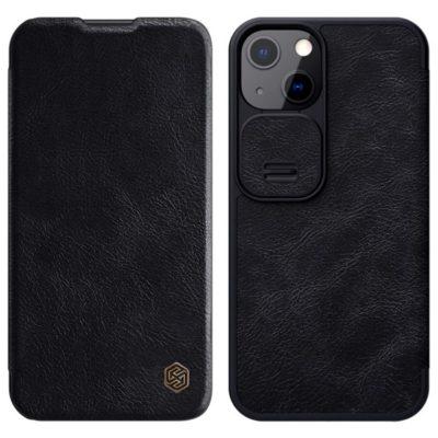 Apple iPhone 13 Kotelo Nillkin Qin Musta