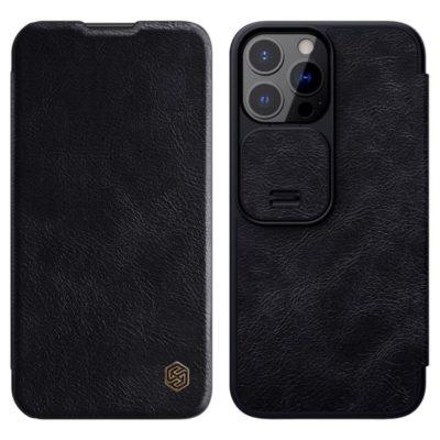 Apple iPhone 13 Pro Kotelo Nillkin Qin Musta